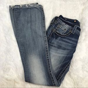 Miss Me Jeans Distressed Embellished Boot Size 27